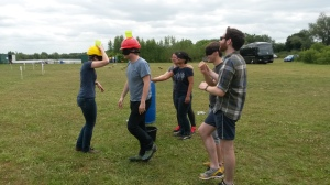 Blindfold team-building - a test of trust in the group